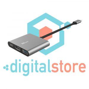 digital-store-medellin-Adaptador Trust Multipuerto USB-C 3 En 1-centro-comercial-monterrey (1)
