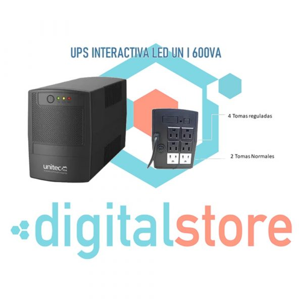 digital-store-medellin-UPS INTERACTIVA LED 6 Tomas UN-I-600VA Marca Unitec-centro-comercial-monterrey
