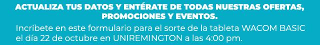 BANNER FORMULARIO DE INSCRIPCION SORTEO - UNIREMINTONG